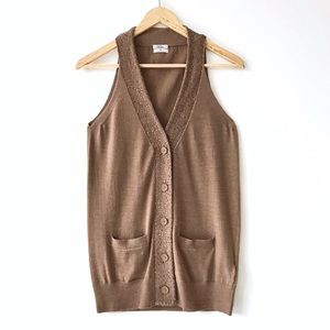 Madewell Wallace Sequin 100% Merino Wool Vest